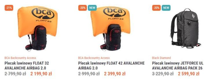 Plecaki Lawinowe