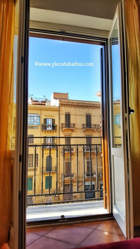 Vedere din apartamentul închiriat