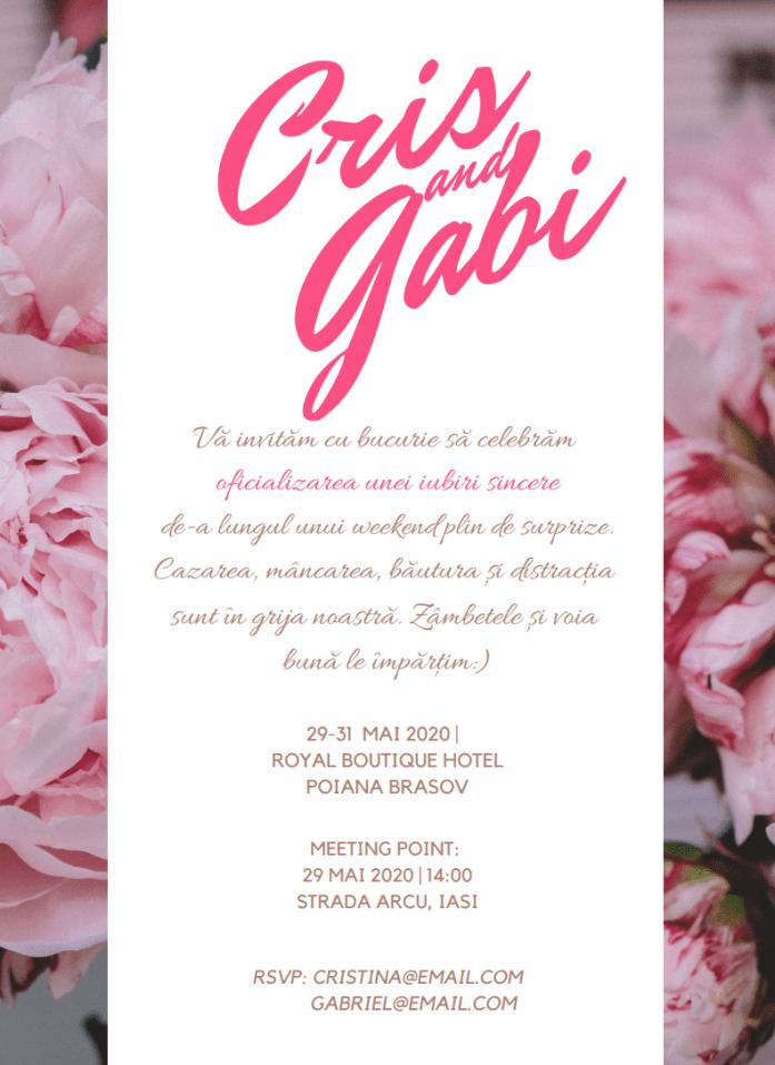 invitatie nunta Royal Boutique Hotel_SuperBlog 2018