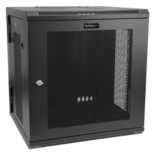 startech 12u server rack enclosure with hinge wall mount rack