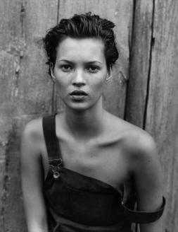 Kate Moss shot by Peter Lindbergh for Haper's Bazaar, 1994