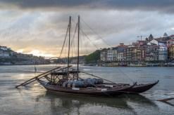 Barco Rabelo, vue du Tage vers l'océan.