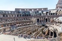 Les ruines intérieures du Colisée.