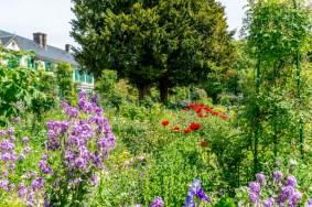 Le jardin devant la maison de Claude Monet.