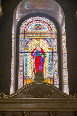 Basilique Saint Etienne, vitrail de Saint André