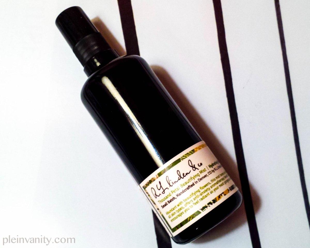 Pure Petal Performance: R.L. Linden & Co. Thousand Petal Beautifying Mist Review