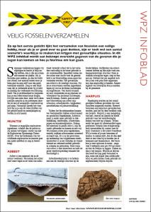 Infoblad veilig fossielen verzamelen