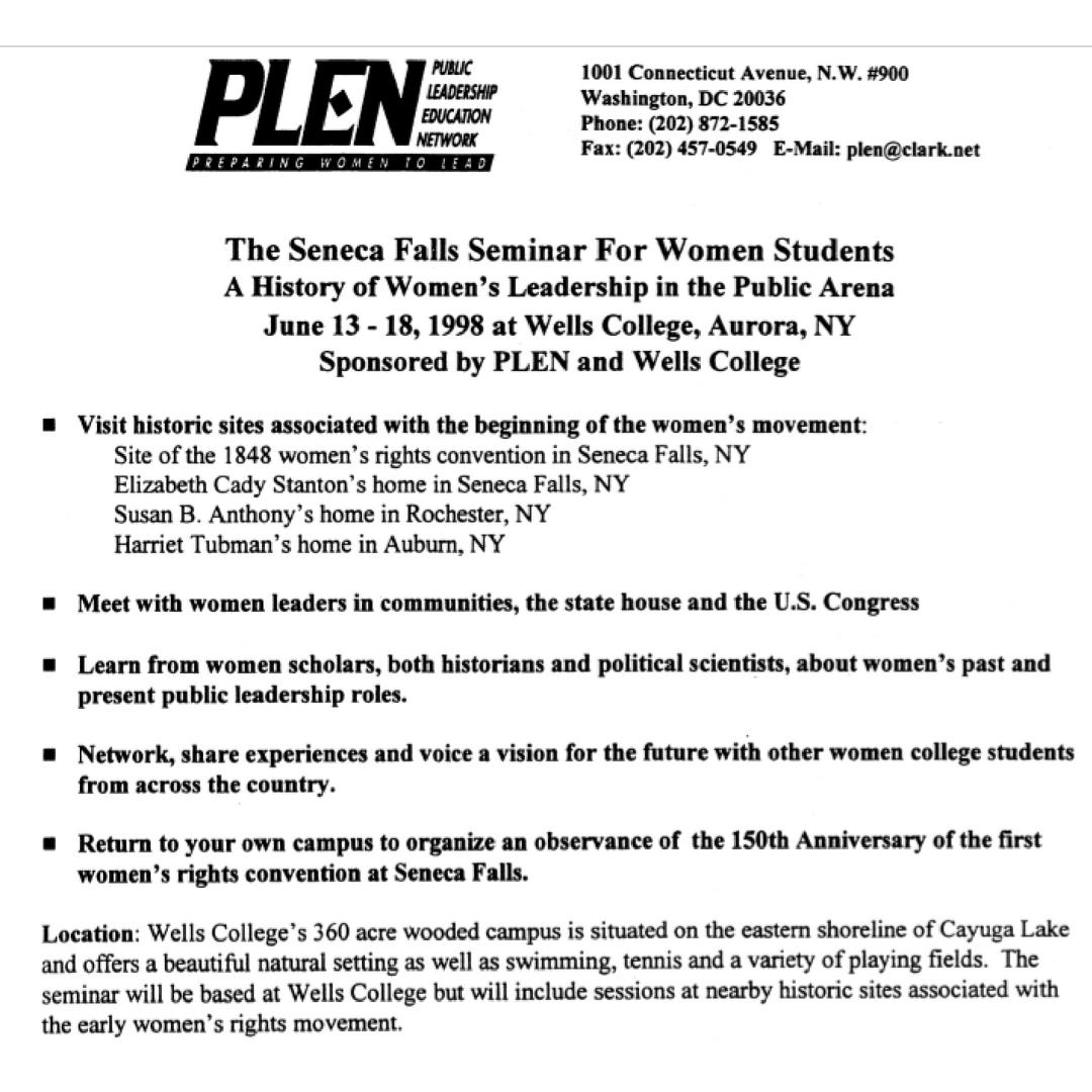 Seneca Falls Seminar