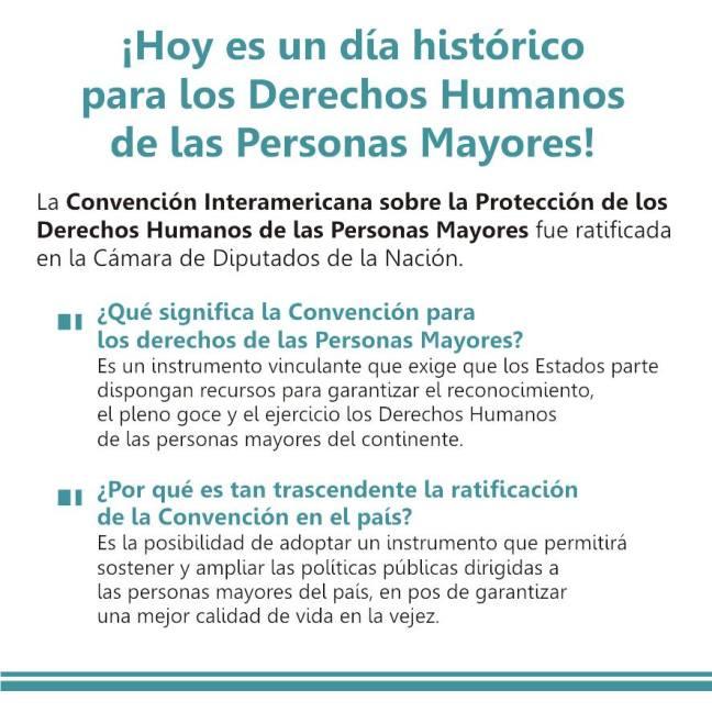 Convención Interamericana sobre Protección de los Derechos de las personas mayores