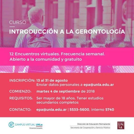Curso Introducción a la Gerontología