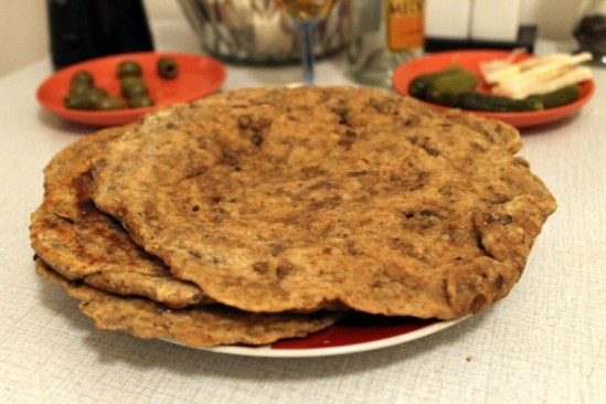 Makes about 7 or 8 flat breads