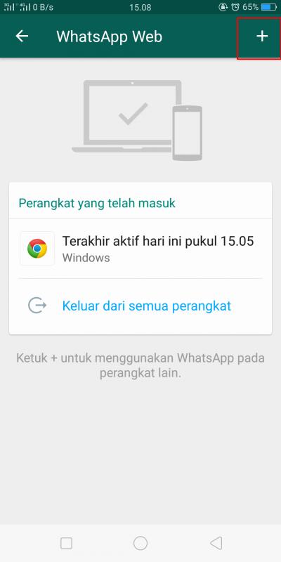 cara menambahkan whatsapp web