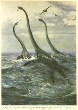Elasmosaurus painting by Zdenek Burian.