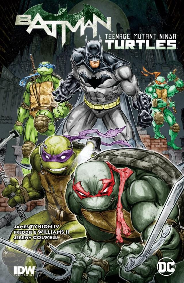 El tomo recopilatorio Batman/Teenage Mutant Ninja Turtles (agosto de 2016). Imagen: Comic Vine