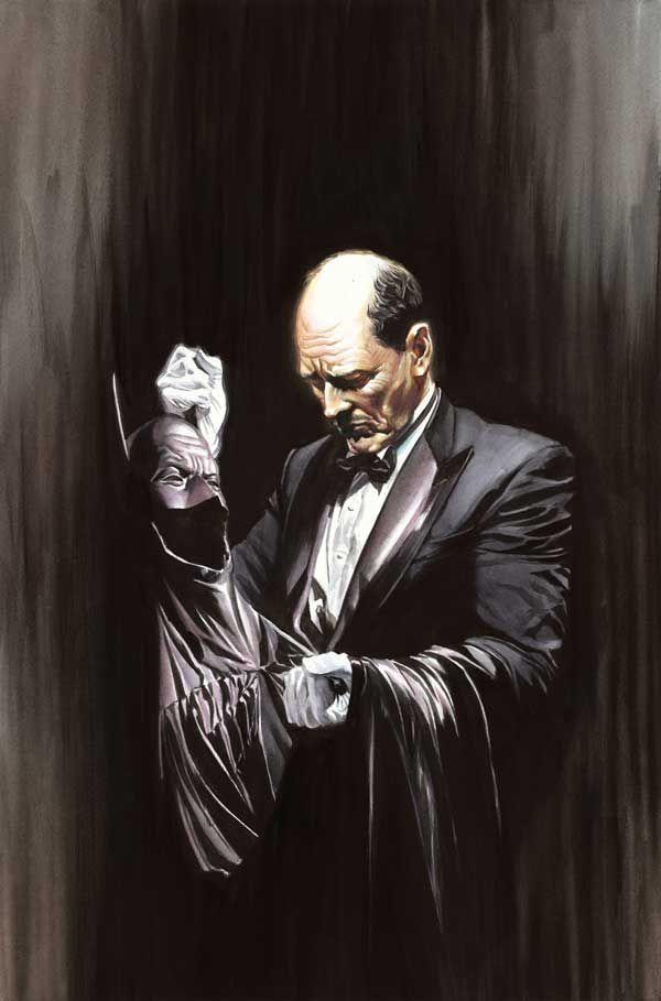 Alfred Pennyworth por el artista Alex Ross. Imagen: pinterest.com
