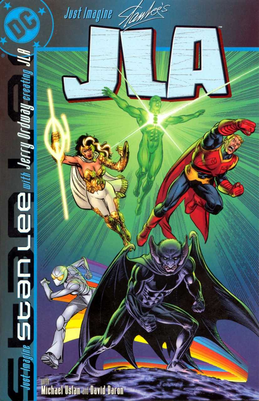 Portada de Just Imagine Stan Lee and Jerry Ordway Creating JLA #1 (febrero de 2002). Imagen: Comic Vine