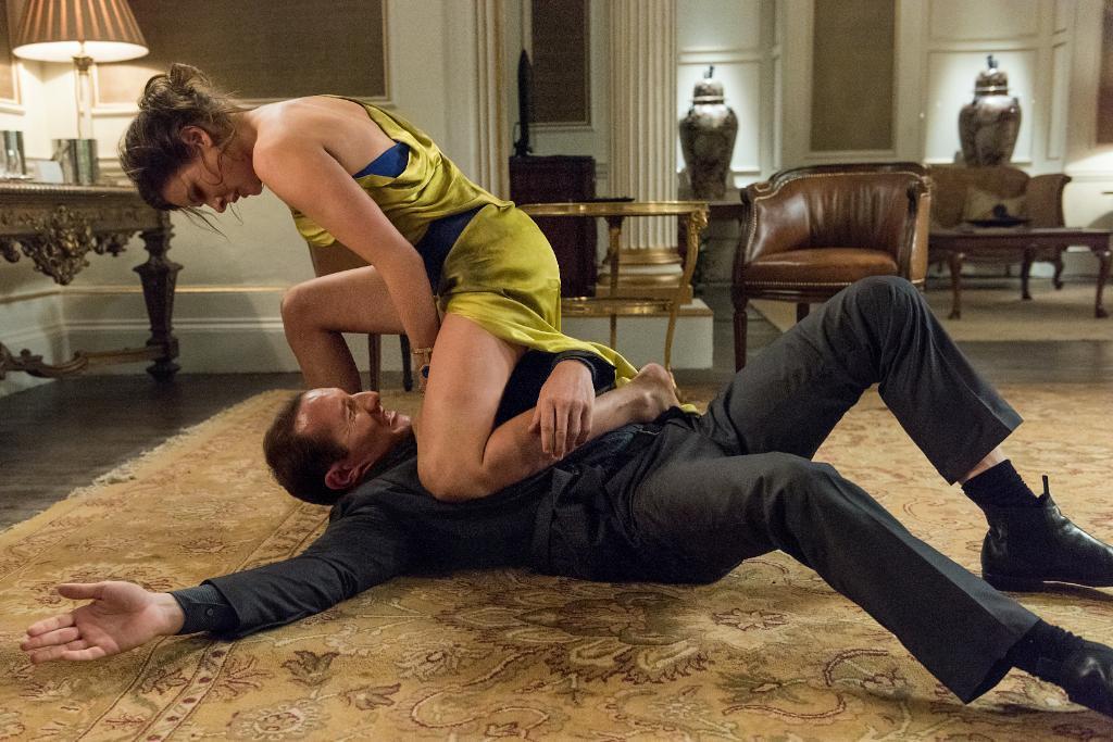 Ilsa Faust (Rebecca Ferguson) en Mission: Impossible – Rogue Nation (2015). Imagen: IMAX Twitter (@IMAX).