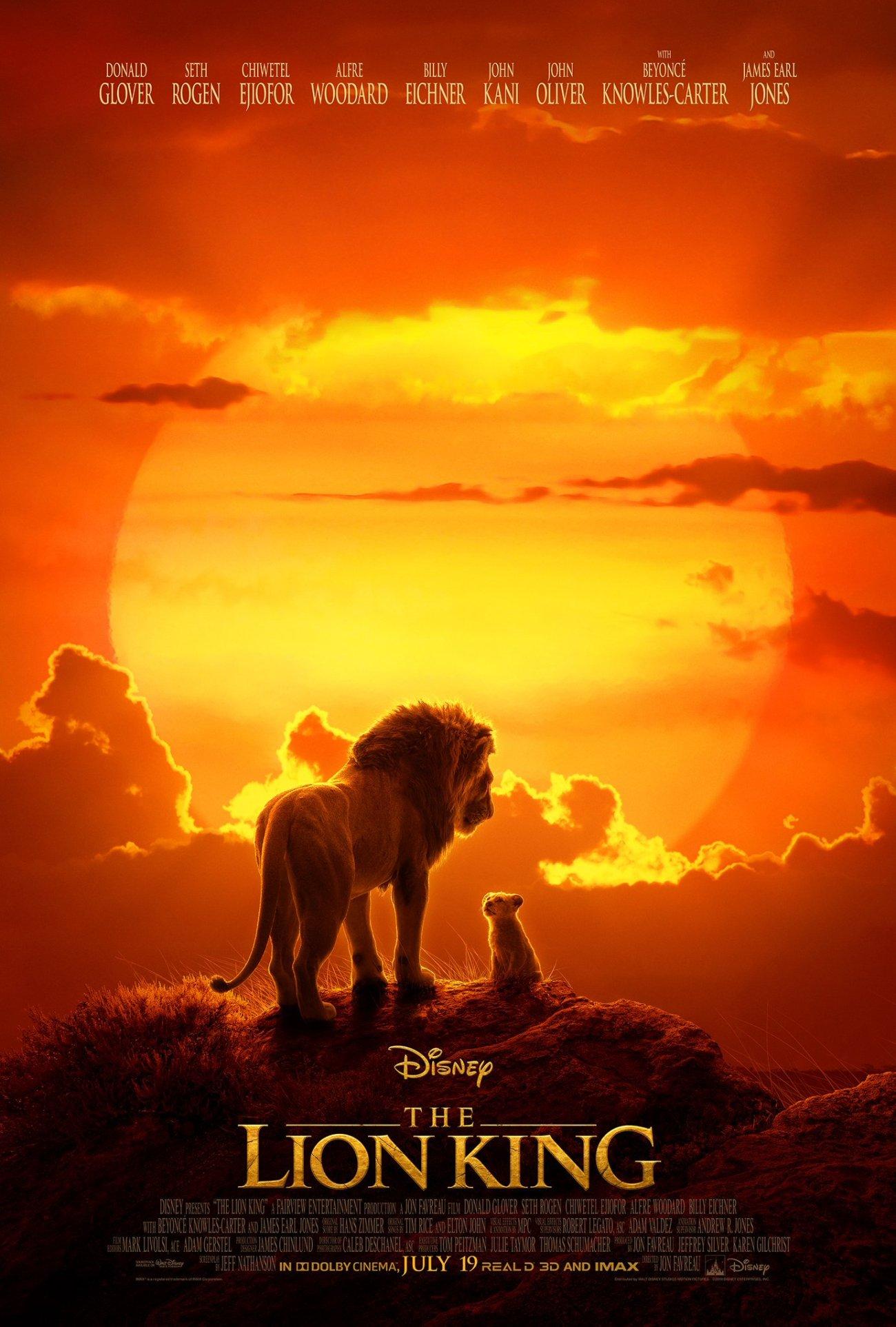 Póster de The Lion King (2019). Imagen: Walt Disney Studios Twitter (@DisneyStudios).