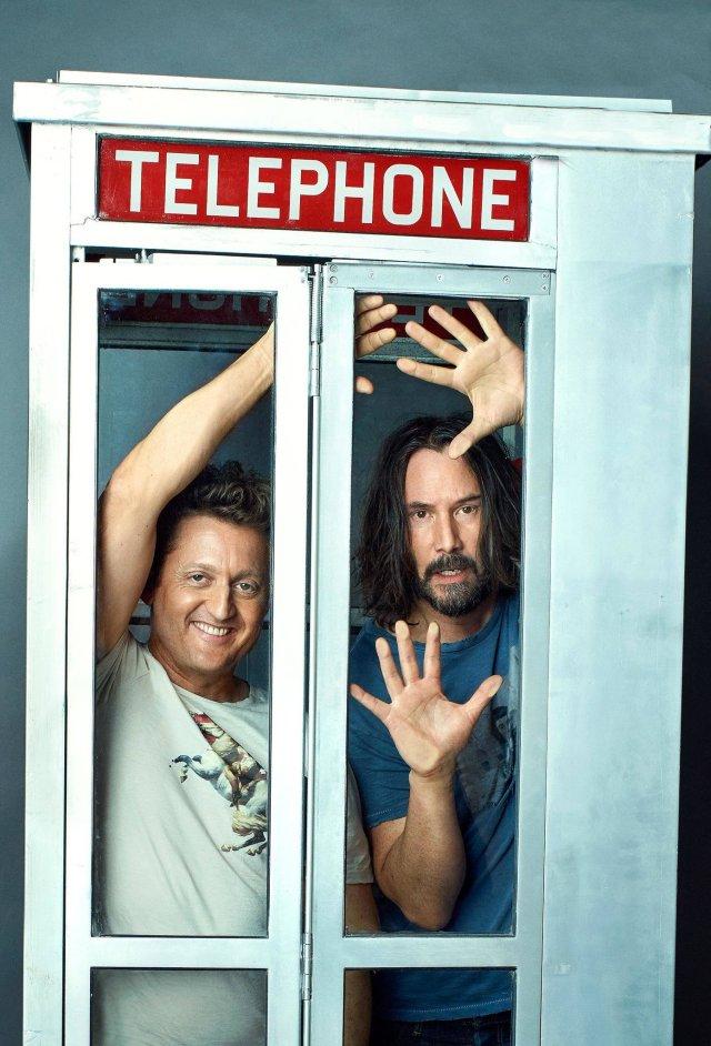 Alex Winter y Keanu Reeves estarán en Bill & Ted Face the Music. Imagen: Bill & Ted 3 Twitter (@BillandTed3).