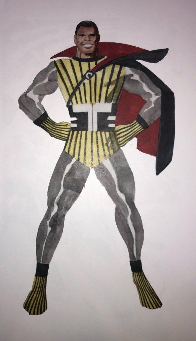 Arte conceptual original de Black Panther por Jack Kirby. Imagen: Jeremy Kirby Twitter (@jackkirbycomics).