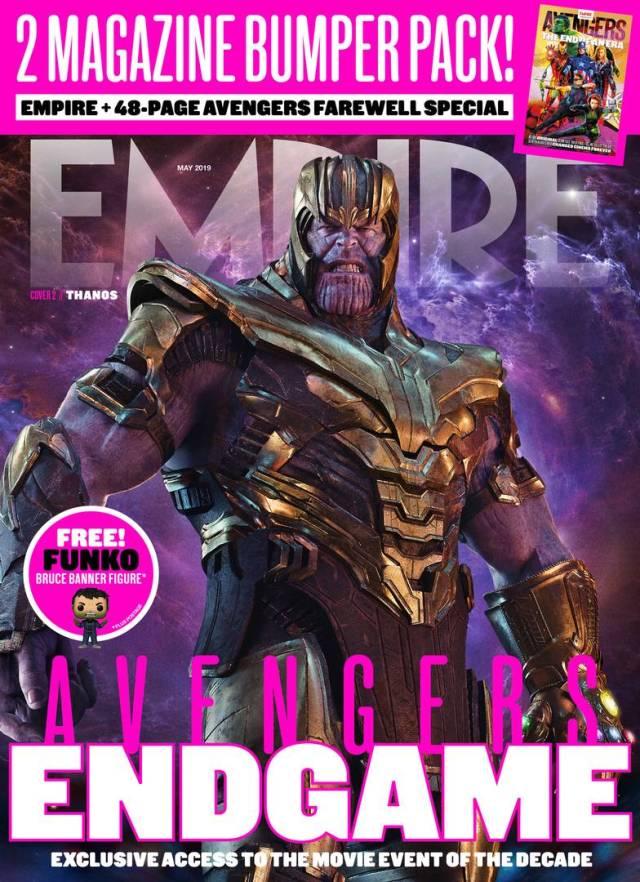Thanos (Josh Brolin) en la Portada 2 de Empire (mayo de 2019). Imagen: Empire Magazine