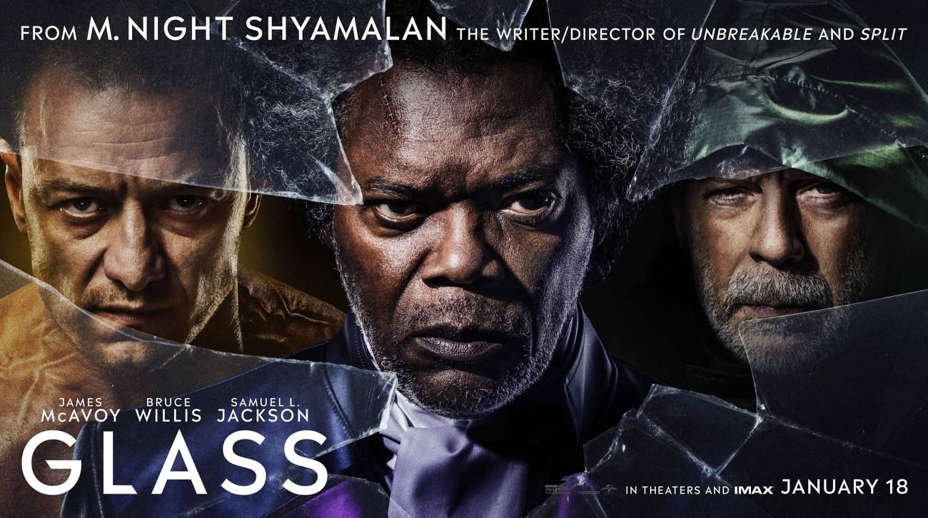 Póster  de Glass (2019). Imagen: impawards.com
