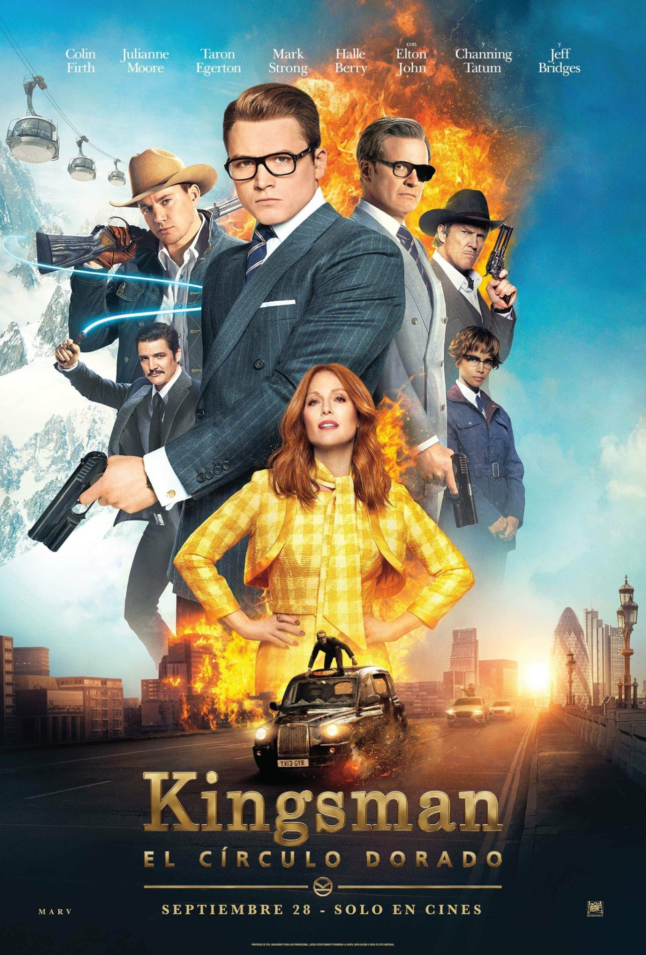 Póster de Kingsman: The Golden Circle (2017). Imagen: impawards.com