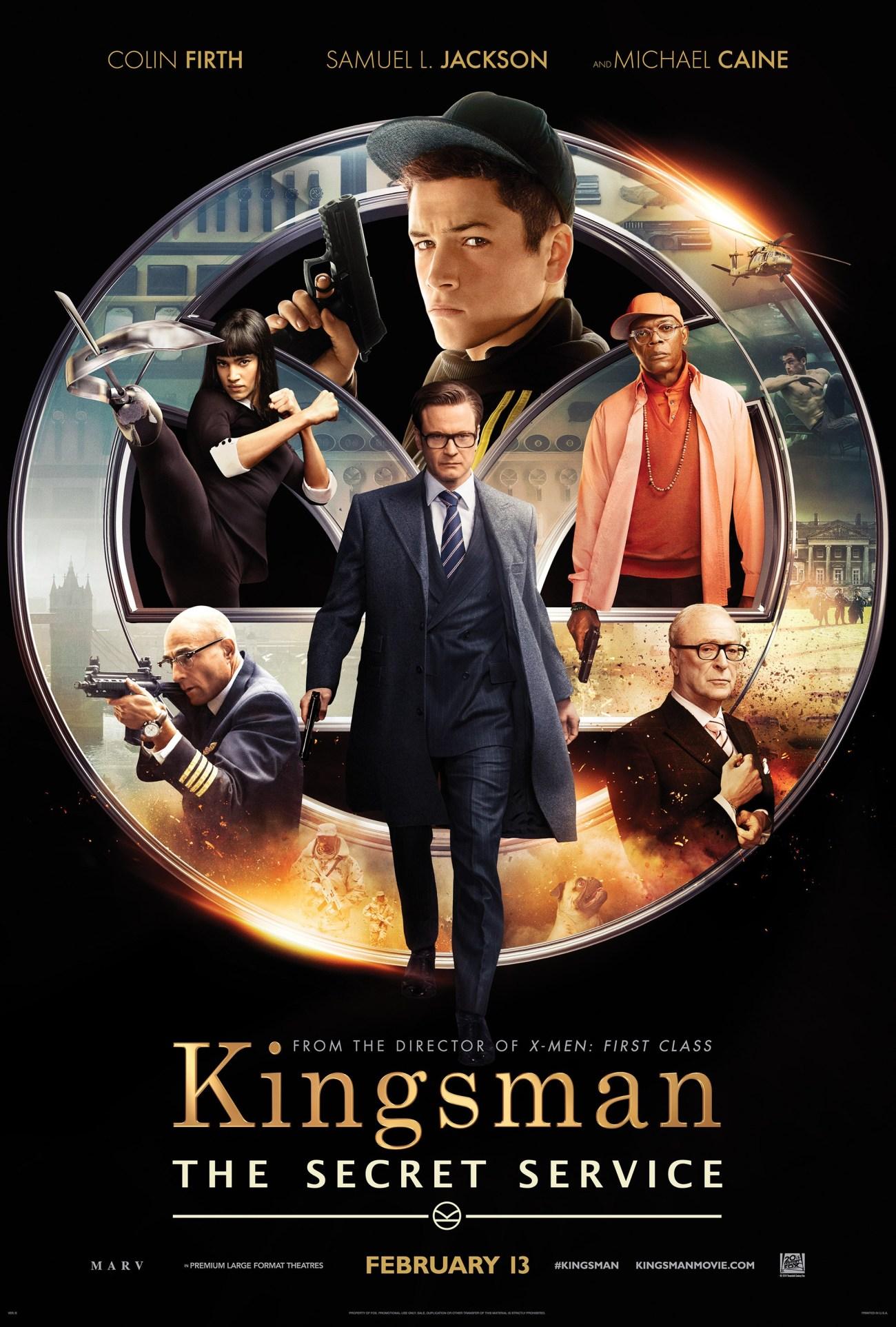 Póster de Kingsman: The Secret Service (2014). Imagen: impawards.com
