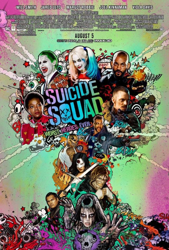 Póster de Suicide Squad (2016). Imagen: impawards.com