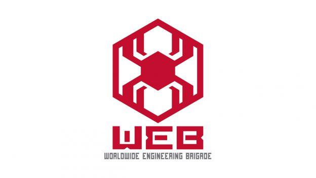 El logotipo de la Worldwide Engineering Brigade (WEB). Imagen: disneyparks.disney.go.com