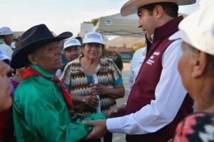 En Cañón Buena Vista hace compromisos Armando Ayala con comunidades indígenas