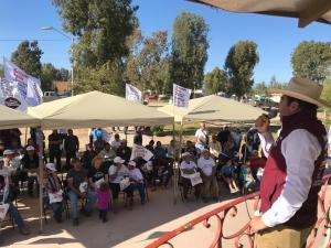 En Ojos Negros Ayala prometió canalizar recursos para delegaciones