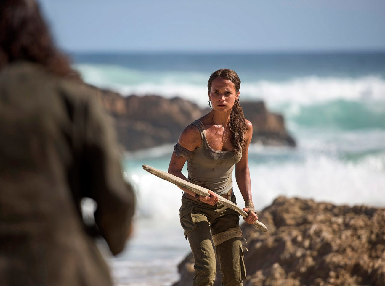 Alicia Vikander como Lara Croft en Tomb Raider (2018). Imagen: Graham Bortholomew.