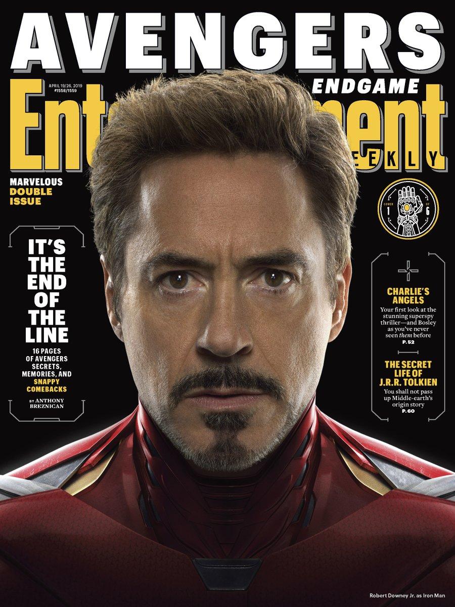 Iron Man (Robert Downey Jr.) en Entertainment Weekly #1558-1559 (19-26 de abril de 2019). Imagen: Marvel Studios Twitter (@MarvelStudios).