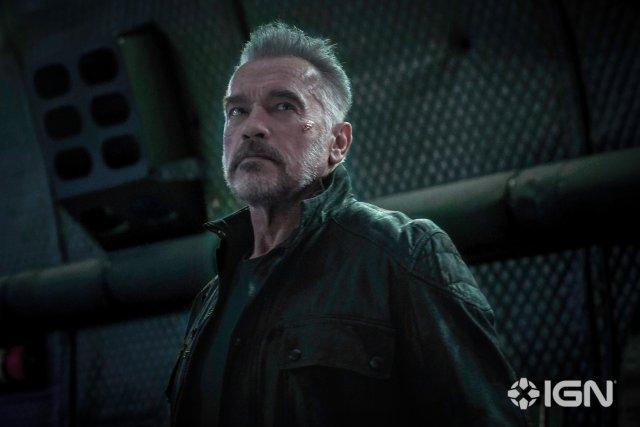 Arnold Schwarzenegger en Terminator: Dark Fate (2019). Imagen: IGN/Paramount Pictures