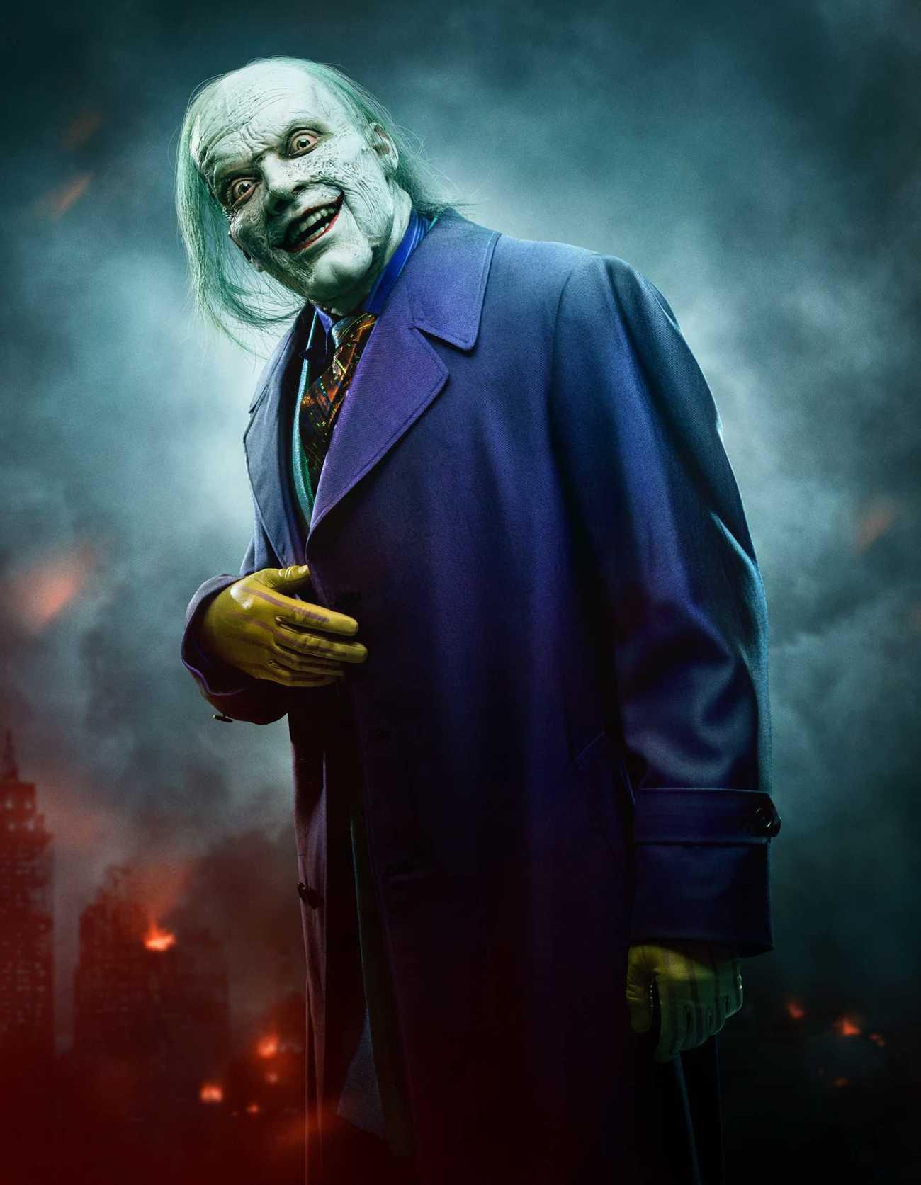 The Joker (Cameron Monaghan) en la temporada 5 de Gotham. Imagen: Entertainment Weekly/FOX