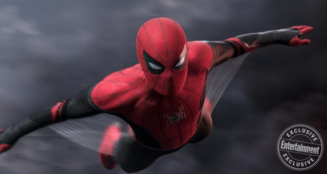Spider-Man (Tom Holland) en Spider-Man: Far From Home (2019). Imagen: Sony Pictures/Entertainment Weekly