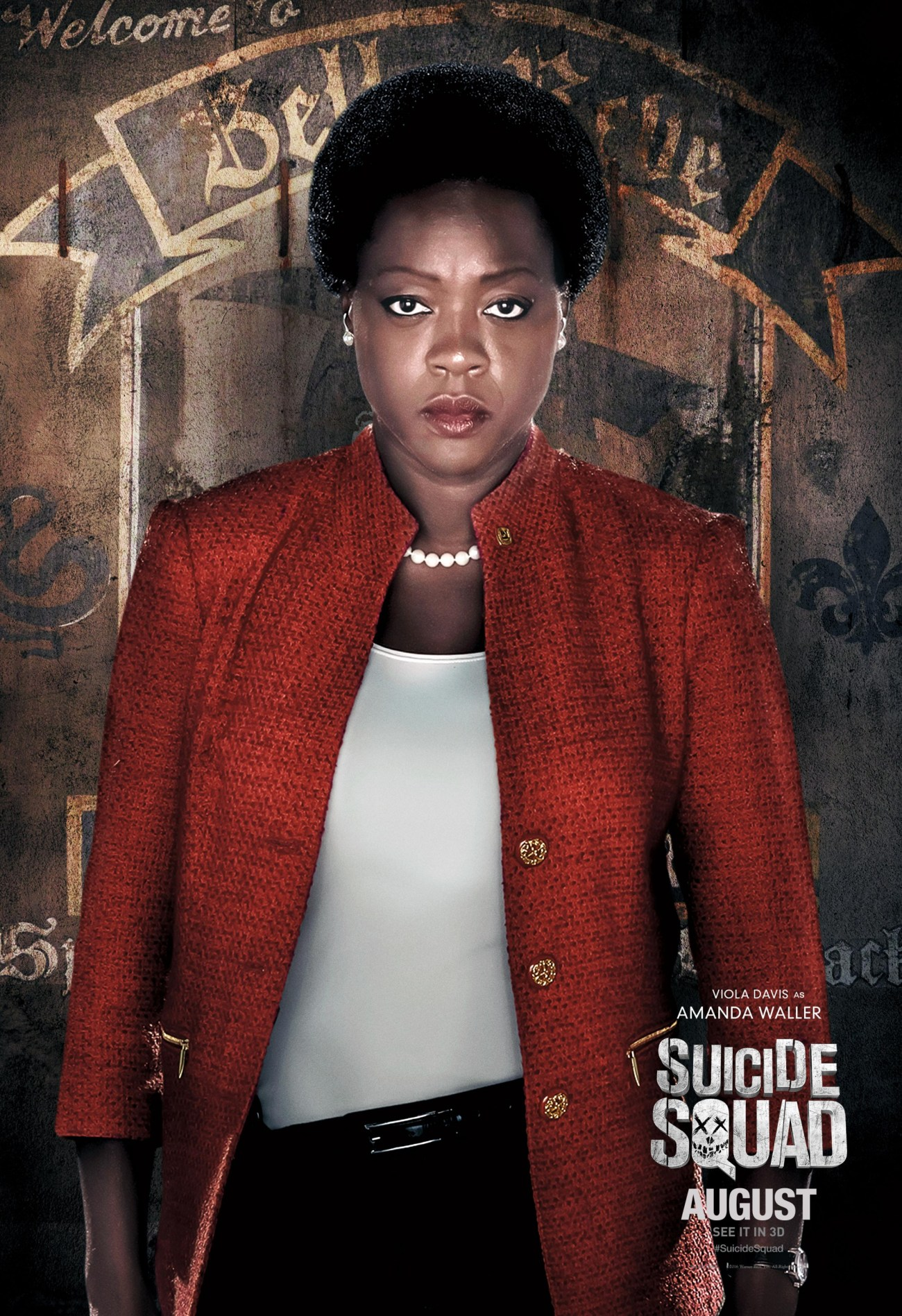 Amanda Waller (Viola Davis) en Suicide Squad (2016). Imagen: impawards.com