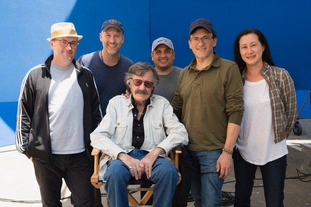 Stan Lee (1922-2018) en Avengers: Endgame (2019). Imagen: Russo Brothers Twitter (@Russo_Brothers).