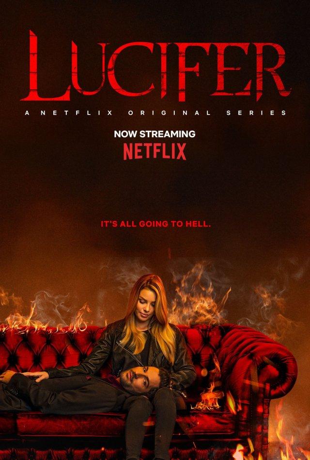 Póster de la temporada 4 de Lucifer en Netflix. Imagen: Lucifer Twitter (@LuciferNetflix).