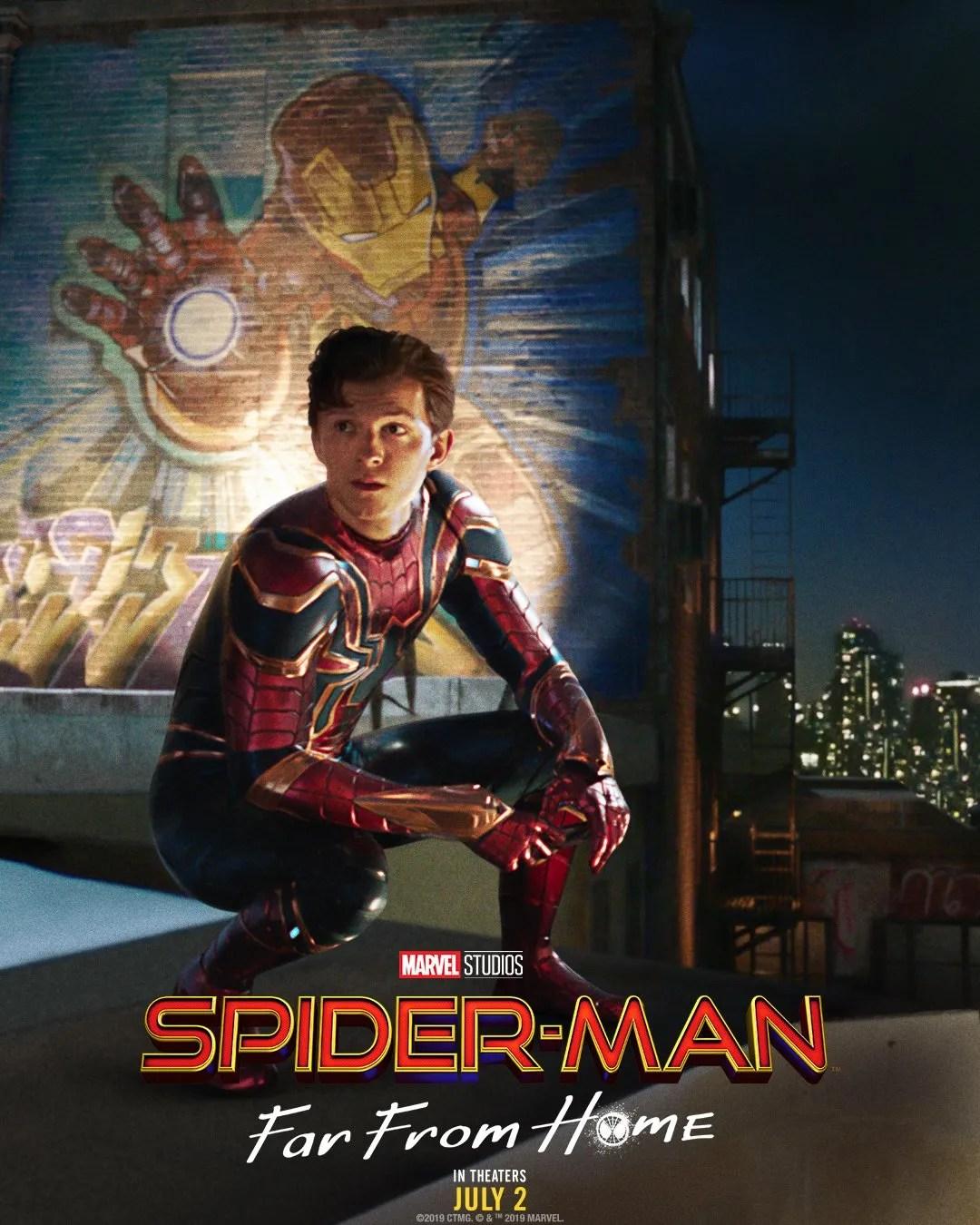 Póster de Spider-Man: Far From Home (2019). Imagen: Spider-Man Twitter (@SpiderManMovie).