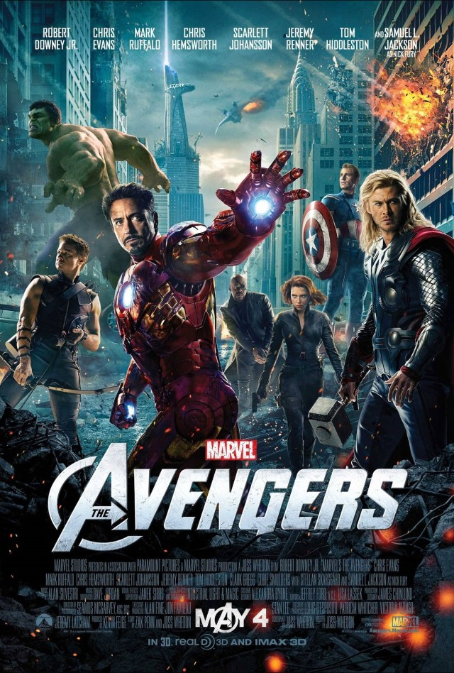 Póster de The Avengers (2012). Imagen: impawards.com