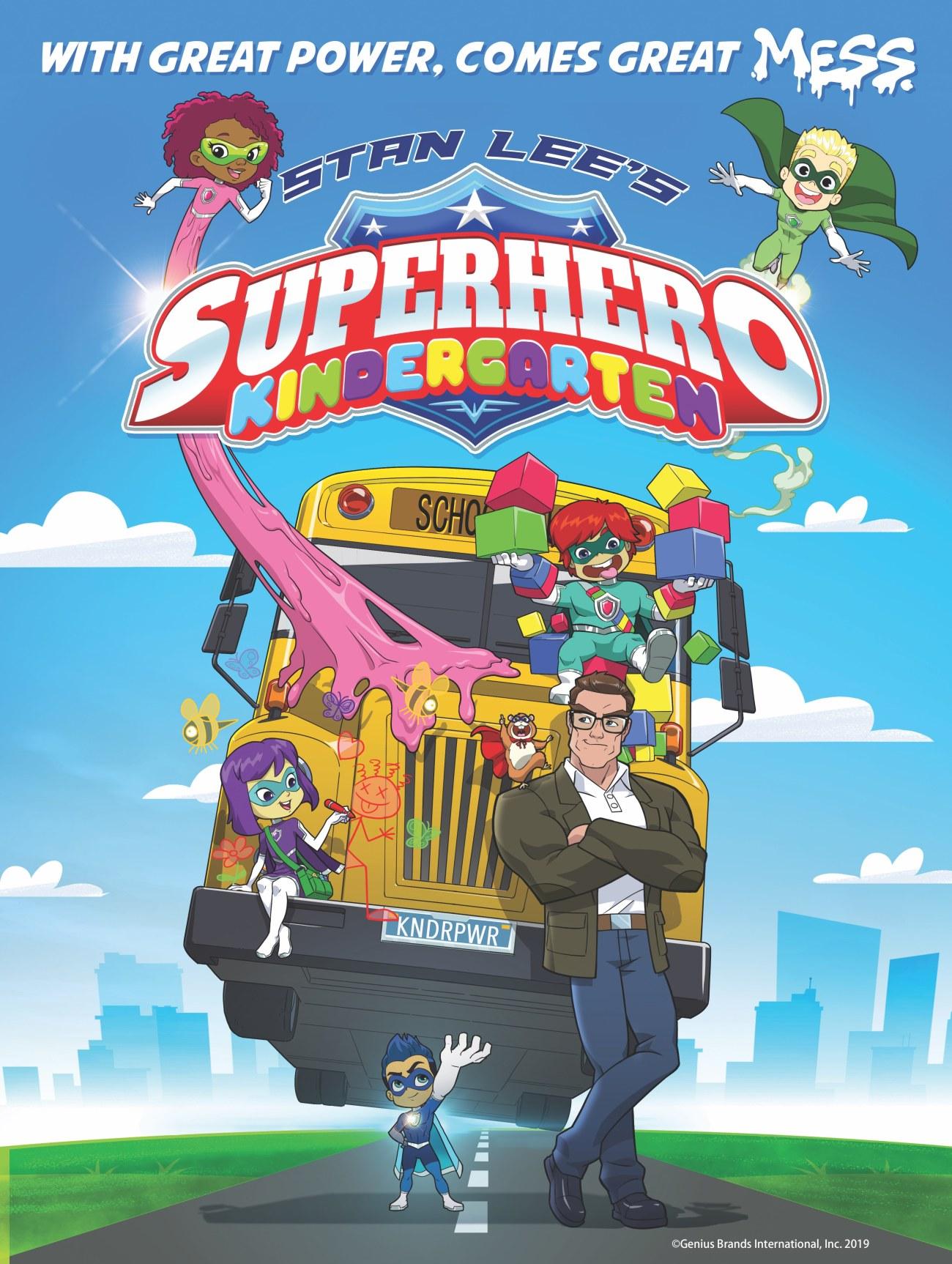 Arte promocional de Superhero Kindergarten. Imagen: Genius Brands International, Inc.