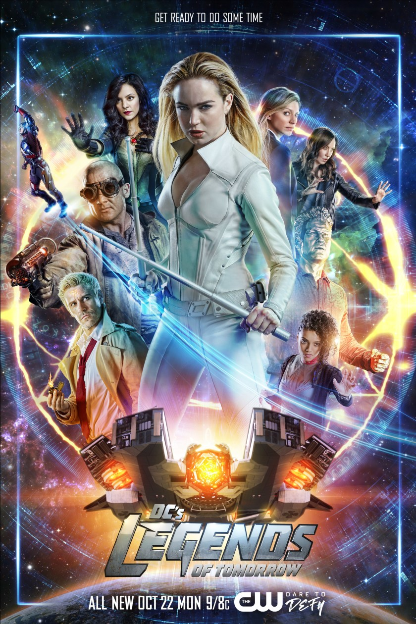 Póster de la temporada 4 de DC's Legends of Tomorrow. Imagen: impawards.com