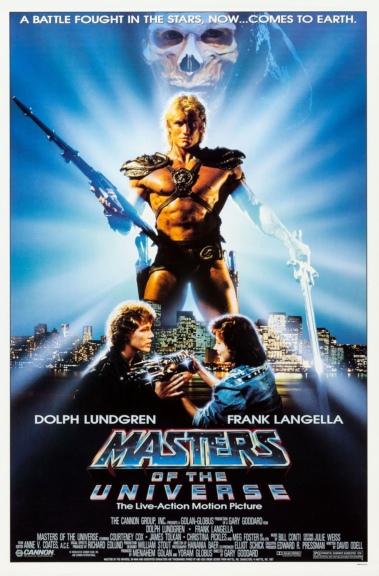 Póster de Masters of the Universe (1987). Imagen: impawards.com