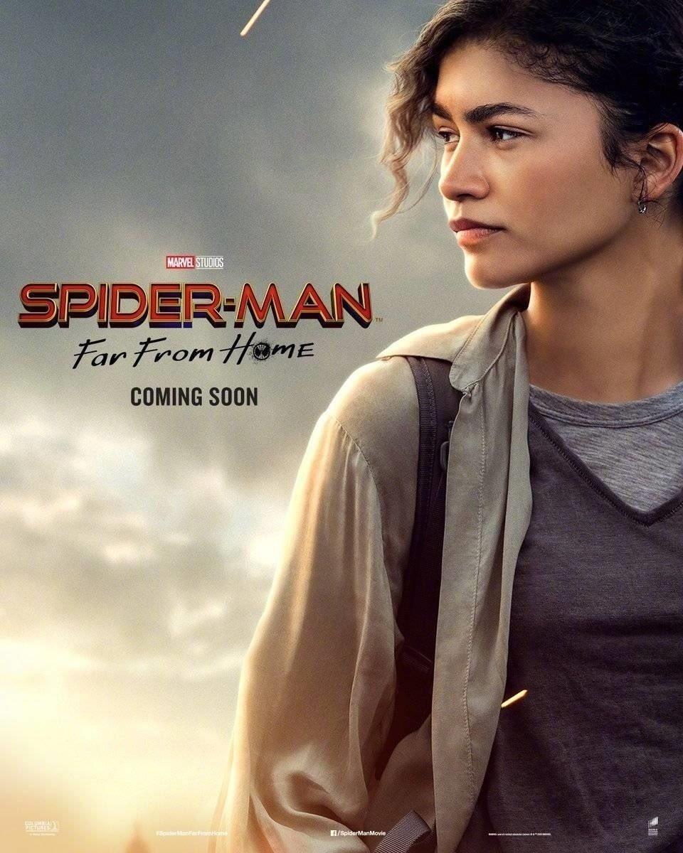 "Michelle ""MJ"" Jones (Zendaya) en un póster de Spider-Man: Far From Home (2019). Imagen: ComicBook.com"