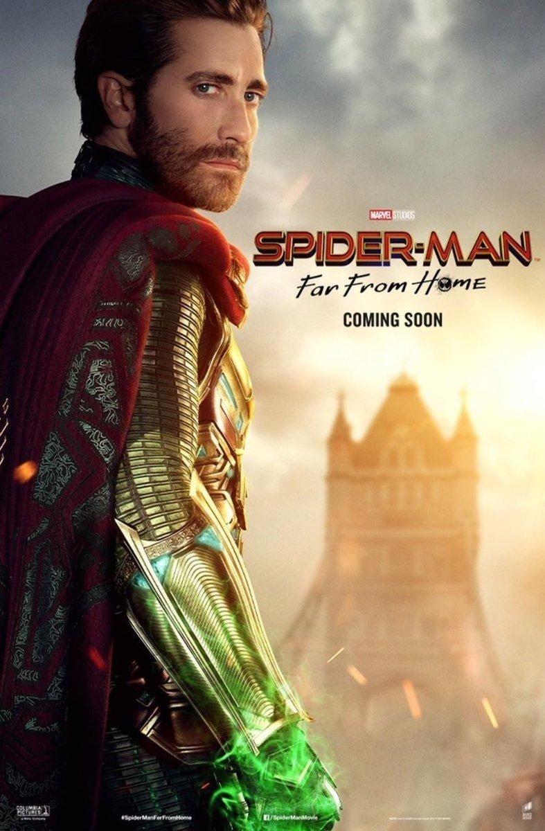 Quentin Beck/Mysterio (Jake Gyllenhaal) en un póster de Spider-Man: Far From Home (2019). Imagen: ComicBook.com