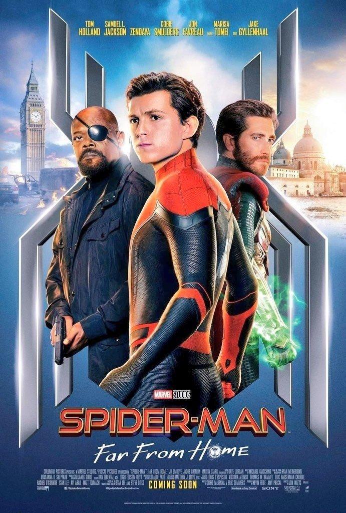 Póster de Spider-Man: Far From Home (2019). Imagen: ComicBook.com