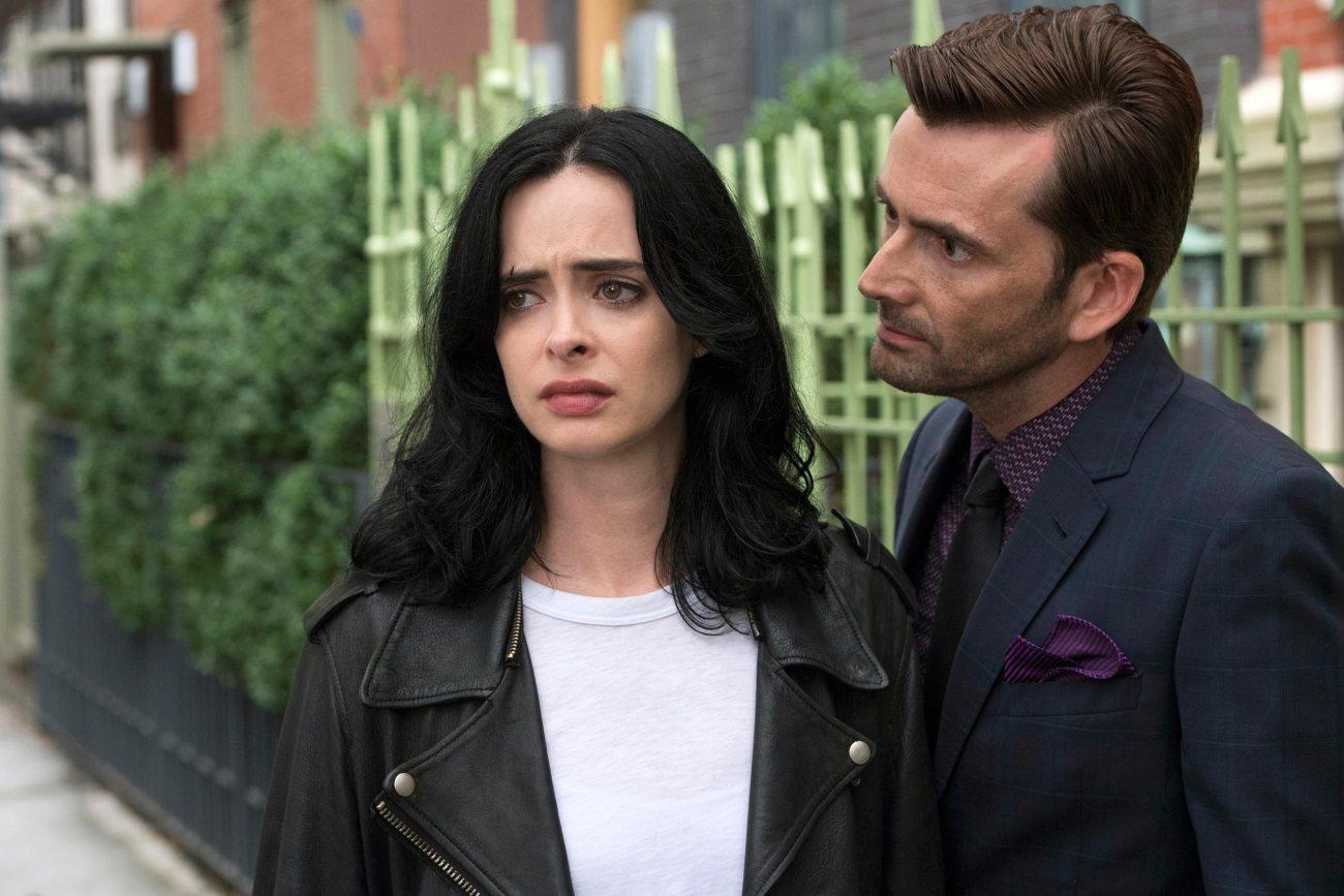 Jessica Jones (Krysten Ritter) y Kilgrave (David Tennant) en la temporada 2 de Jessica Jones. Imagen: David Giesbrecht/Netflix