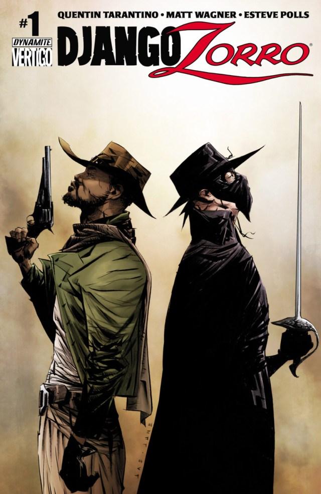 Portada de Django/Zorro #1 (noviembre de 2014), co-escrito por Quentin Tarantino. Imagen: Comic Vine
